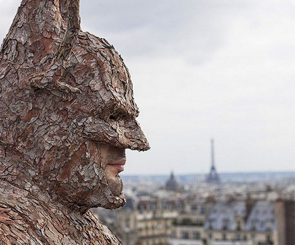 Wearable Batman Suit Made from Tree Bark: Bark Man