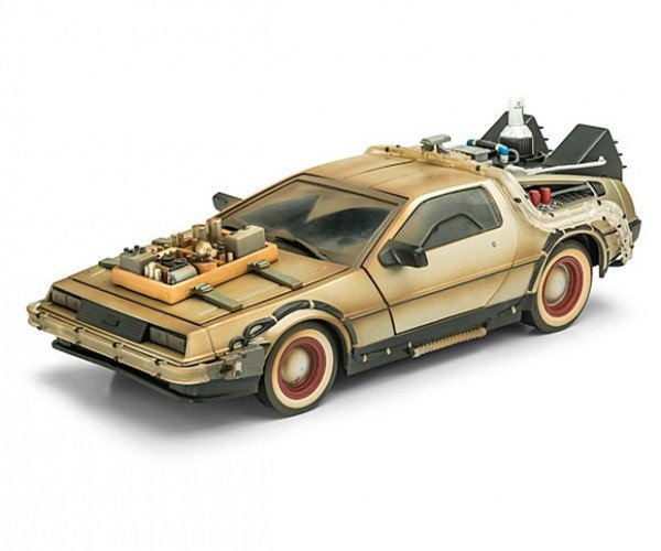 Back to the Future III DeLorean is from the Right Side of the Tracks
