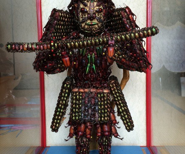 Creepy Japanese Samurai Statue is Made of Dead Bugs