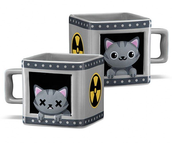 Schrödinger's Cat Mug: If You Sip Your Coffee, The Cat Dies