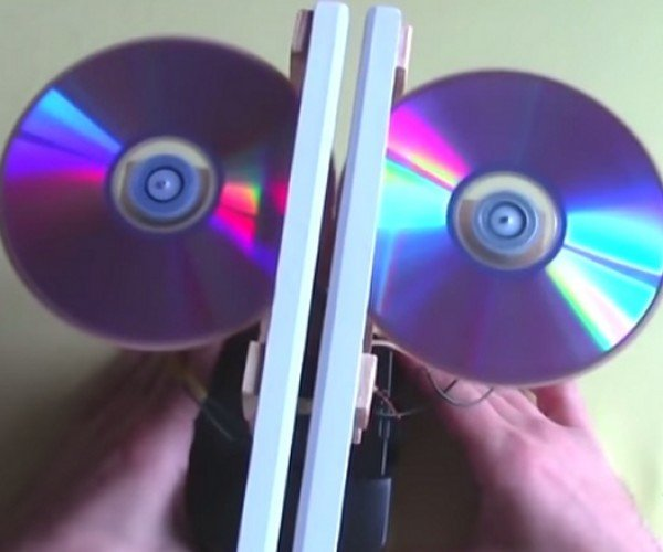 Compact Disc-Powered Paper Airplane Launcher