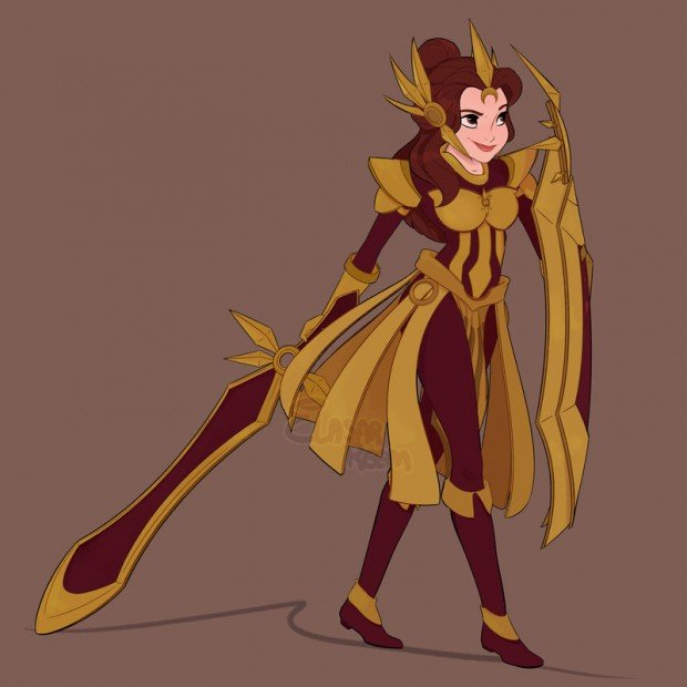 disney_heroines_league_of_legends_mashup_by_elasar_reem_1