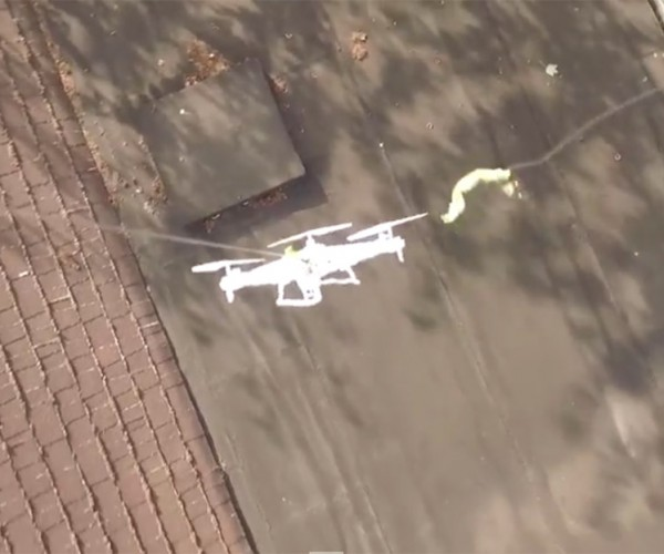 Guy Crashes Drone on Neighbor's Roof, Sends Another to Rescue It