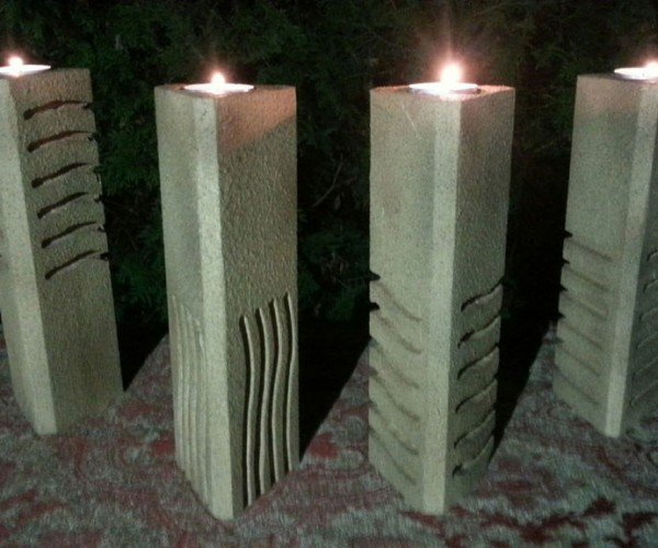 DIY Candle Holders Inspired by the Stones from The Fifth Element