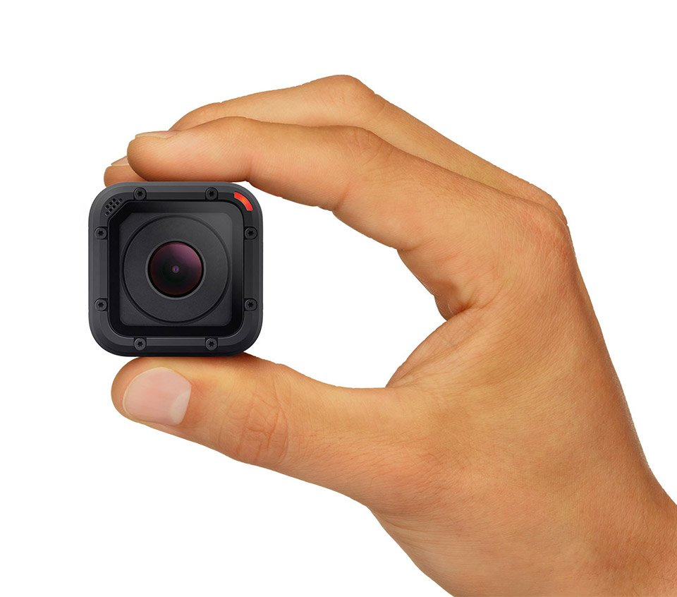 gopro hero4 session goes anywhere thanks to its tiny size technabob. Black Bedroom Furniture Sets. Home Design Ideas