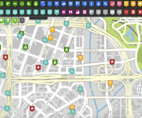 Grand Theft Auto 5 Interactive Map for Real iFruits and Fruit PCs
