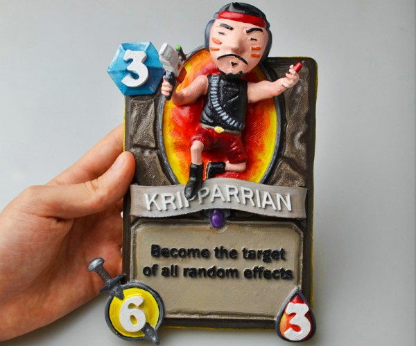 3D Printed Kripparrian Hearthstone Card: How Good is 3D Printing?