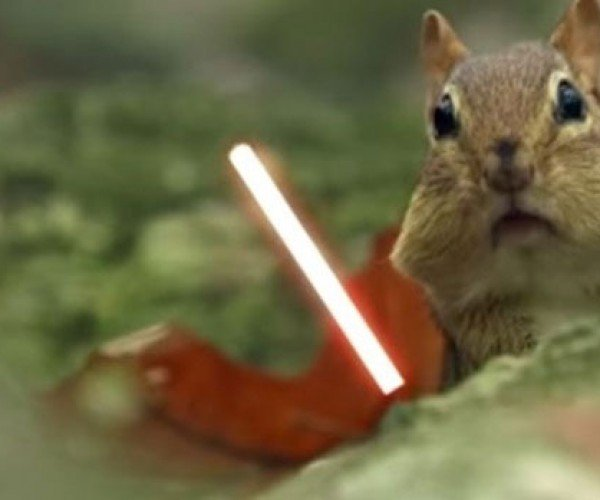 Jedi Chipmunks Act out Iconic Star Wars Scene