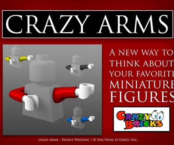 Crazy Arms Alternate LEGO Minifig Arms