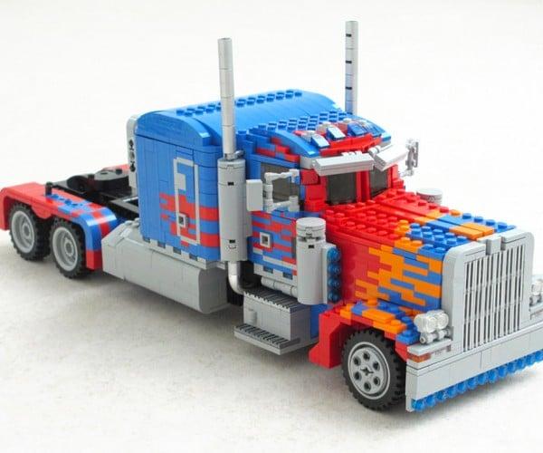 Huge LEGO Optimus Prime Really Transforms
