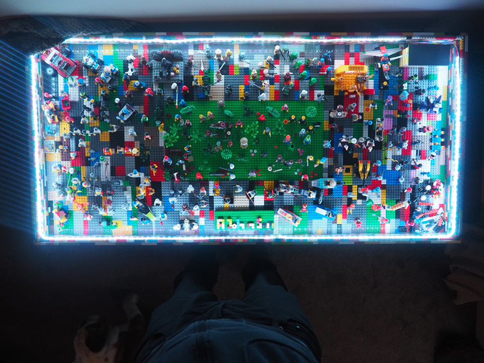 Lego Light Up Table Is Also A Minifig Village