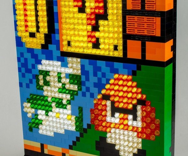 Illuminated LEGO Luigi Sprite Portrait: I'm a-LEGO, Number One!