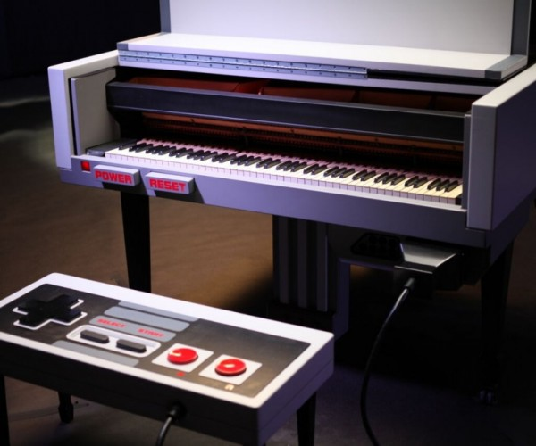 Super Mario Tunes Played on an NES Piano: Super Mario Bach?