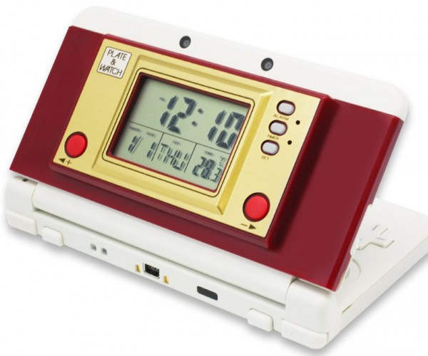 New Nintendo 3DS Game & Watch Clock Cover Plate: Plate & Watch