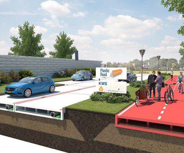 Recycled Plastic Roads are Green and Promise Fewer Potholes