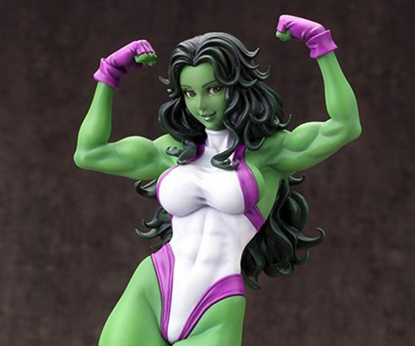 She-Hulk Statuette Is Green and Statuesque