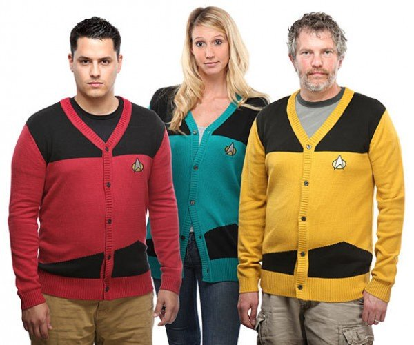 Boldly Go Outside This Fall in a Star Trek TNG Cardigan Sweater