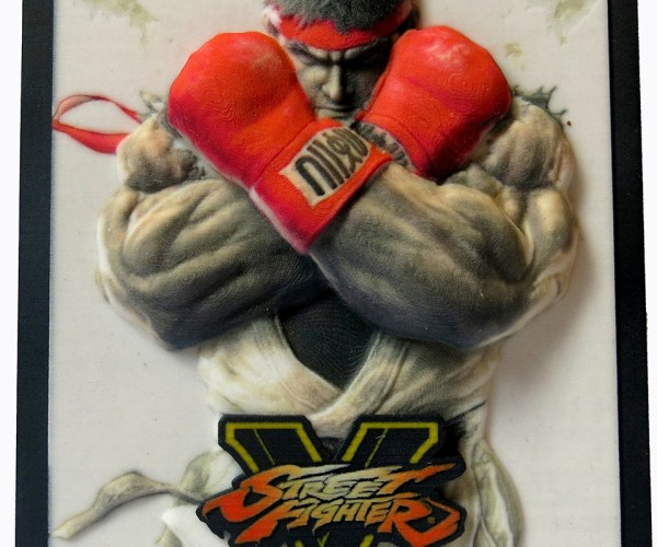 Street Fighter V 3D Printed Cover Art: Hadouprint!