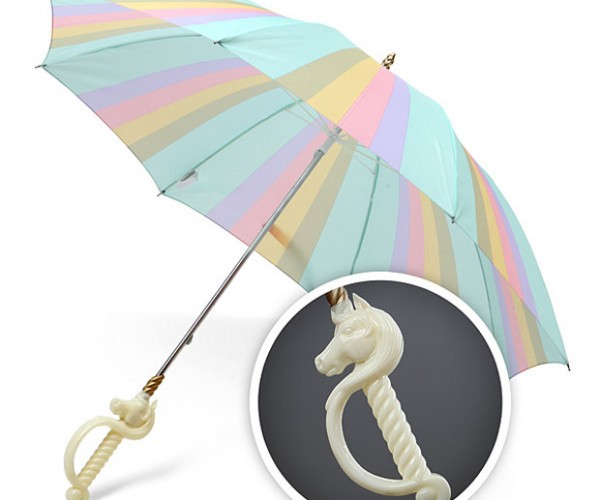 Magical Unicorn Umbrella Keeps Trolls (and Humans) Dry