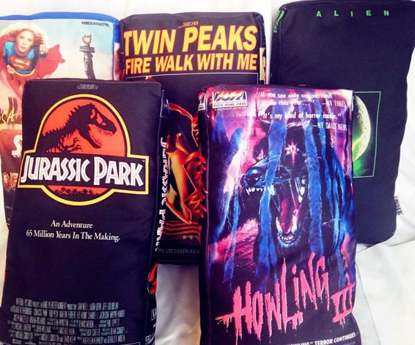 VHS Box Art Pillows: Be Kind, Unwind