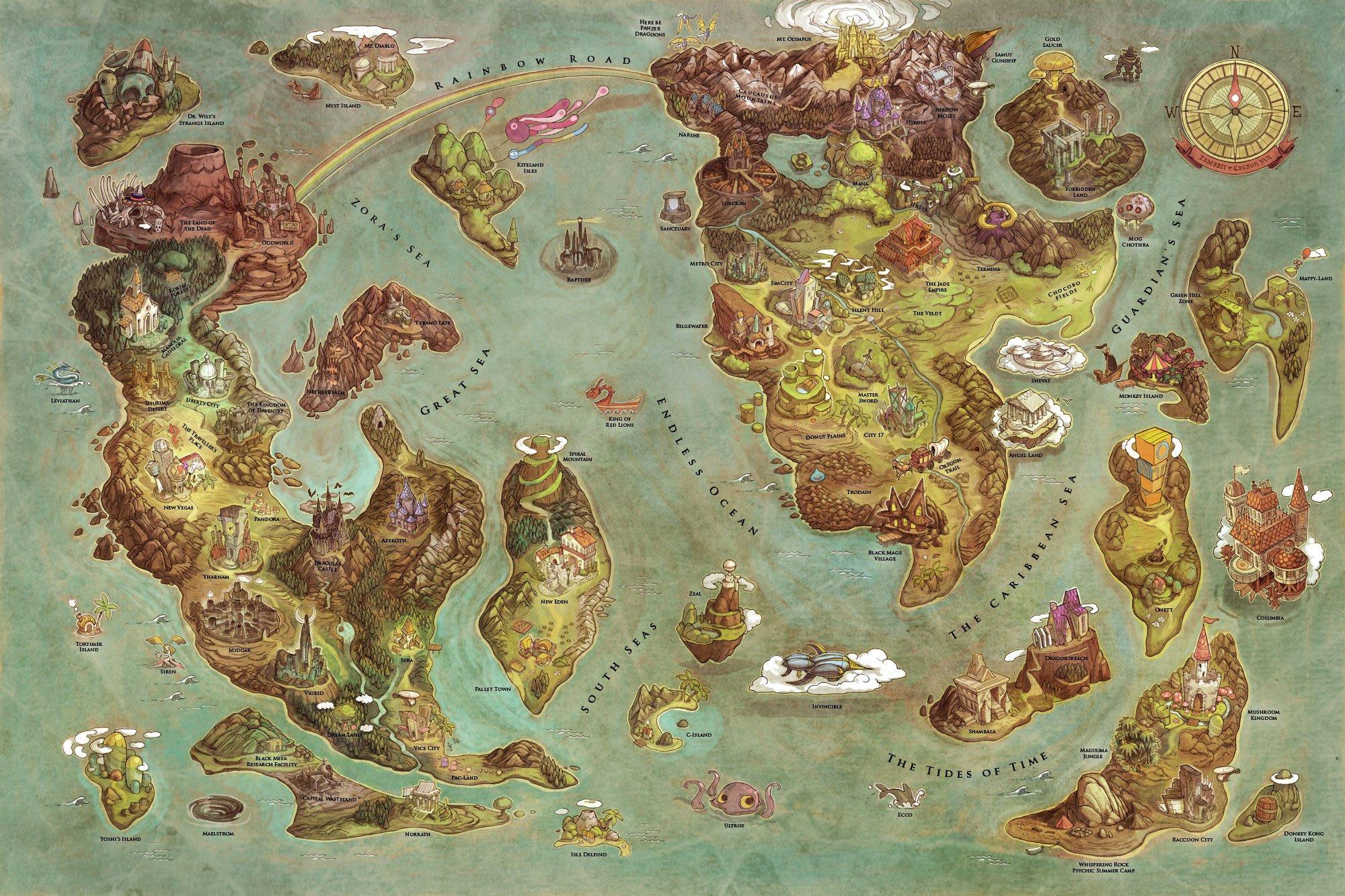 Videogames World Map Smash Kingdom Project X Taisen Of