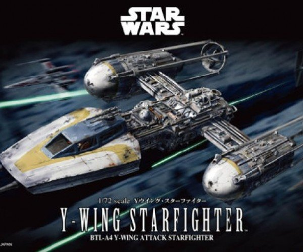 Bandai Y-Wing Model Kit Can Go Return of the Jedi or A New Hope Style
