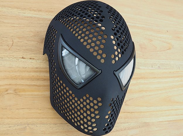 3d printed spiderman mask shell ultimate cosplayman