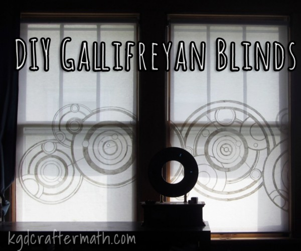 Doctor Who Gallifreyan Window Blinds: Who's Behind that Window?