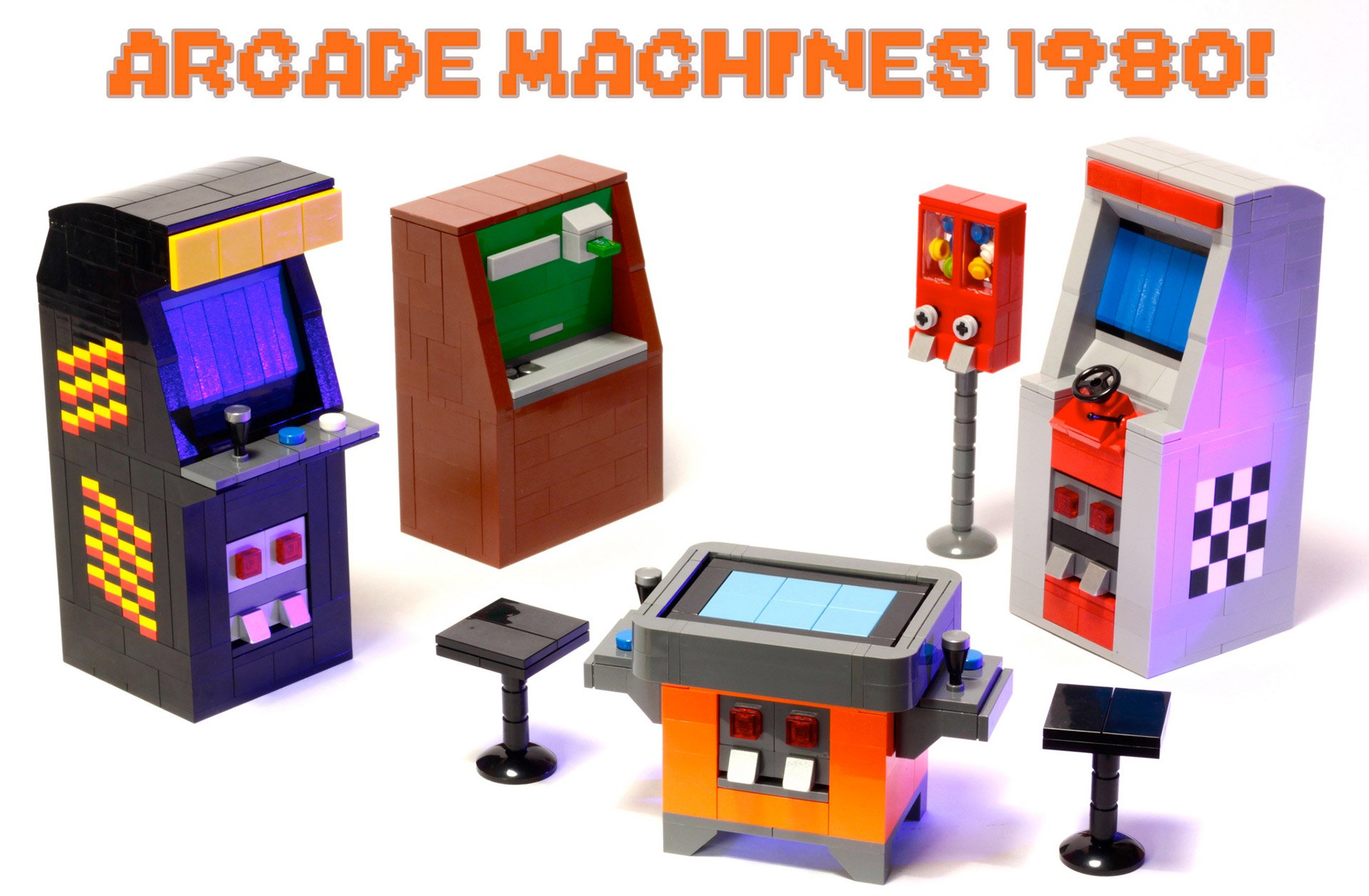 tiny lego arcade cabinets hit lego ideas technabob. Black Bedroom Furniture Sets. Home Design Ideas