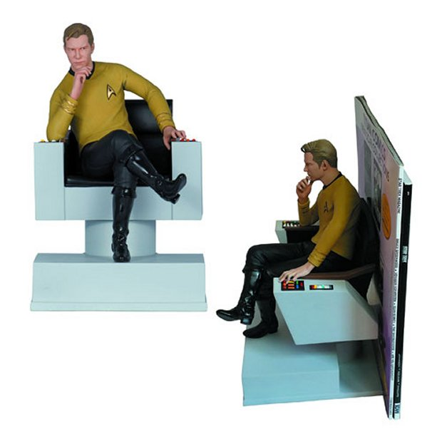 Captain kirk bookends bridge to library technabob - Portal bookend ...