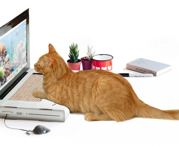 Cattop: A Scratching Post That Looks Like a Laptop