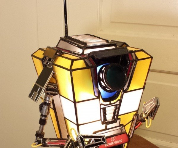 Stained Glass Claptrap Lamp: Borderlight