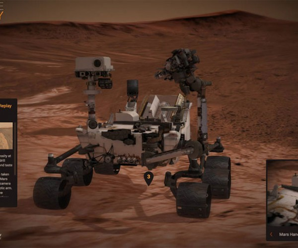 Experience Curiosity Gives You Control over a Virtual Rover