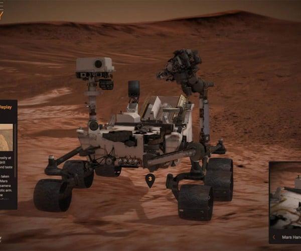 Experience Curiosity Gives You Control over a Virtual Rover