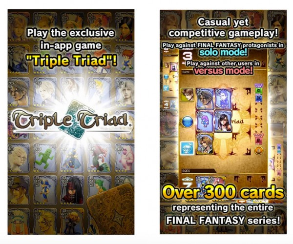 Final Fantasy Portal News App Junctioned with Triple Triad