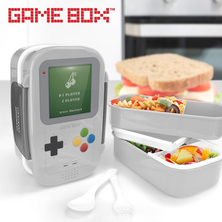 game box bento box press start to lunch technabob. Black Bedroom Furniture Sets. Home Design Ideas