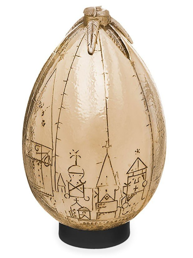 Large Goose Egg Gold Props : Harry potter golden egg replica looks like an eggplant