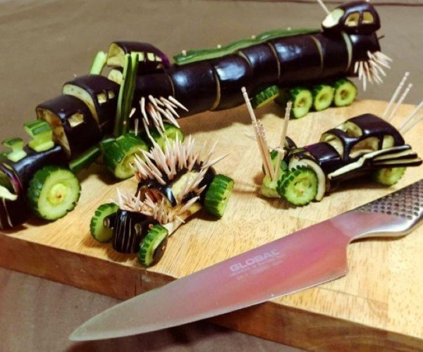 Mad Max Vehicles Recreated with Vegetables