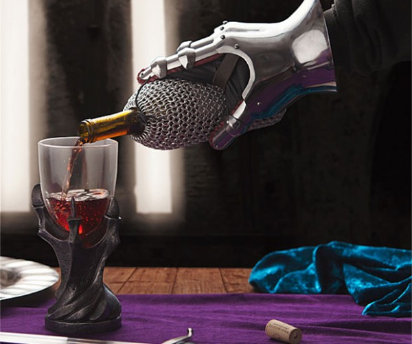 Chainmaille Wine Bottle Bag is Sir's Favorite
