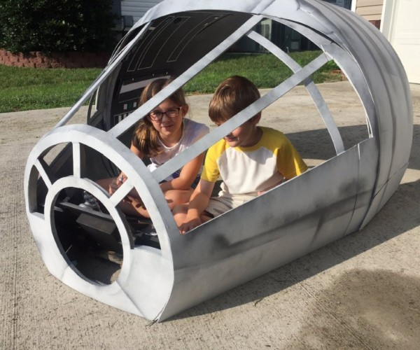 Millennium Falcon Playhouse May Not Look Like Much, But She's Got It Where It Counts