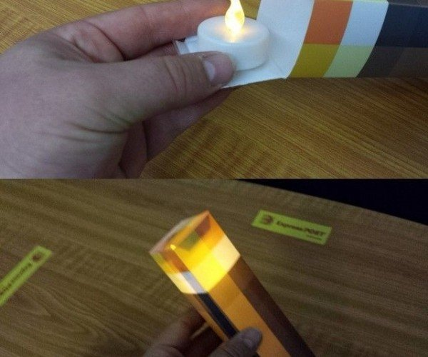 Papercraft Minecraft Torch: Voxelight