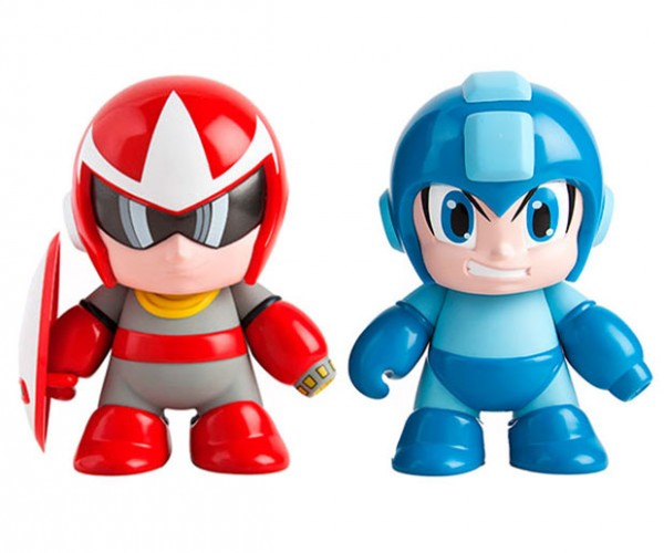 Mega Man and Proto Man 7-inch Vinyl Figures Ready to Take on Dr. Wily