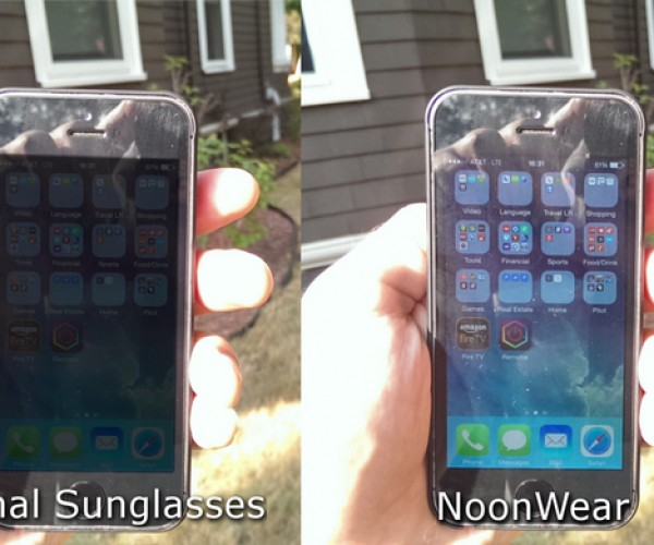 NoonWear Ones Sunglasses Make Screens Readable in Daylight: Glare Repair