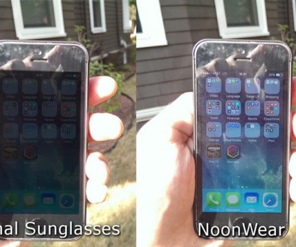 NoonWear Ones Sunglasses Make Screens Readable in Daylight: Glare Repair