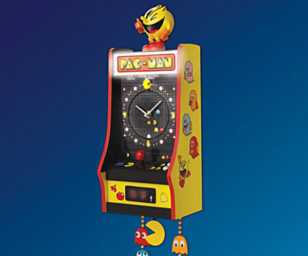 Pac-Man Arcade Cabinet Wall Clock: Waka Clocka Game