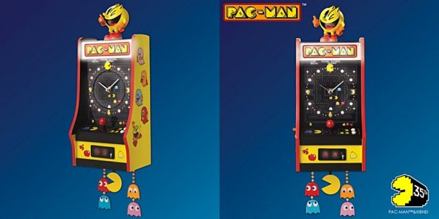 pac_man_35th_anniversary_arcade_cabinet_wall_clock_1