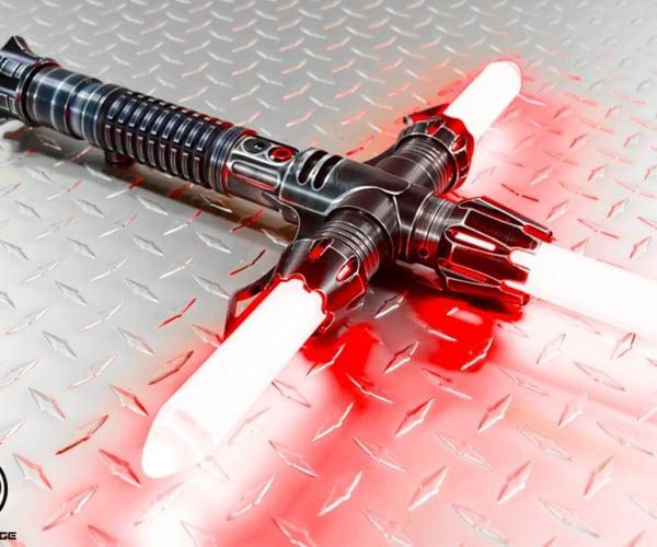 Saberforge Crossguard Lightsabers: Dark Side, Light Side, Left Side, Right Side