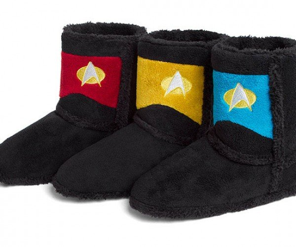 Star Trek TNG Boot Slippers: Warm Me up, Scotty!