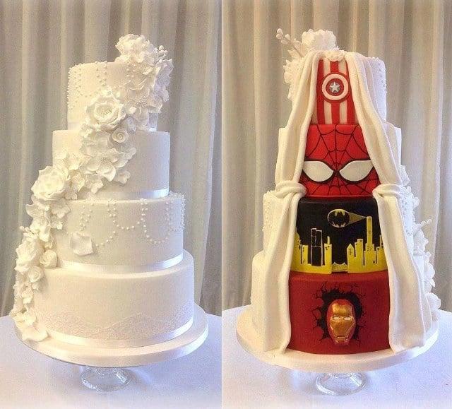 Superhero Wedding Cake Compromise
