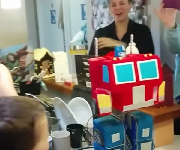 Transforming Optimus Prime Cake: Frosting in Disguise
